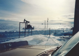 Pumping unit in snow